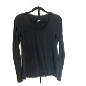 Gorgeous! Loft Top with Sheer Detail